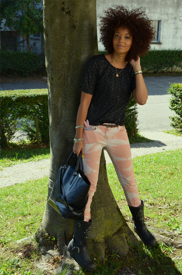 mercredie-blog-mode-tye-dye-kookai-jean-promod-rock-koah-birsen-afro-hair-curls-cheveux-nappy