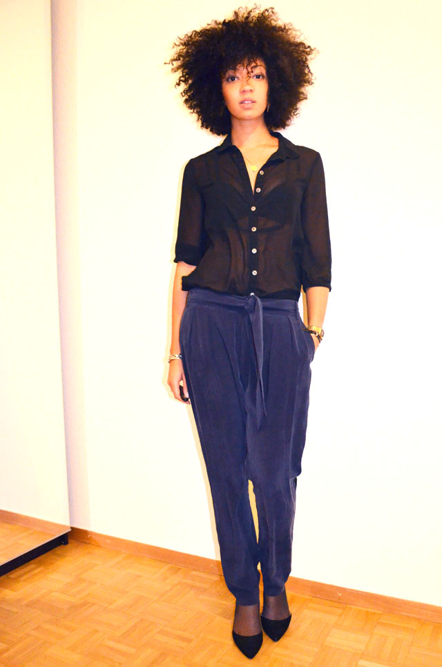 mercredie-blog-mode-only-les-petites-pantalon-groom-escarpins-zara-veste-glitter-sequins-afro-hair-natural