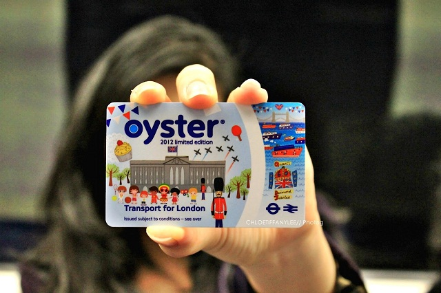 The new Oyster Card. Transportation for London. Underground, Bus, Tram.