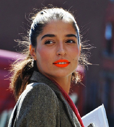 orange-lipstick-bright-preppy-look