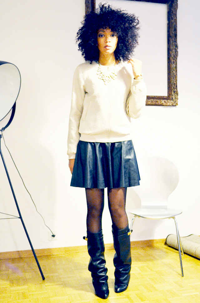 mercredie-blog-mode-beaute-geneve-bottes-givenchy-boots-shark-ersatz-choies-jupe-cuir-promod-afro-hair-cheveux-nappy-teddy-vila