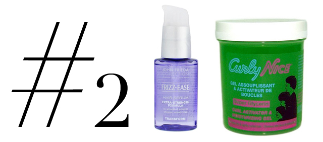mercredie-blog-mode-beaute-cheveux-routine-frises-john-frieda-frizzeaze-serum-strong-curly-nice-curls-curl-activator-green-vert