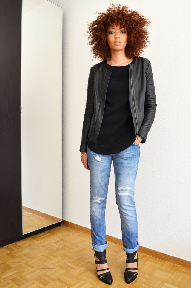 mercredie-blog-mode-geneve-suisse-pull-bear-sandales-talons-afro-hair-cheveux-zara-jean-boyfriend-blouson-cuir-bel-air2