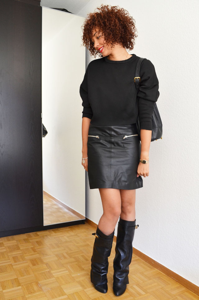 mercredie-blog-mode-geneve-suisse-boots-bottes-choies-givenchy-shark-ersatz-jupe-cuir-zip-h&m-pull-crop-top-zara-20133