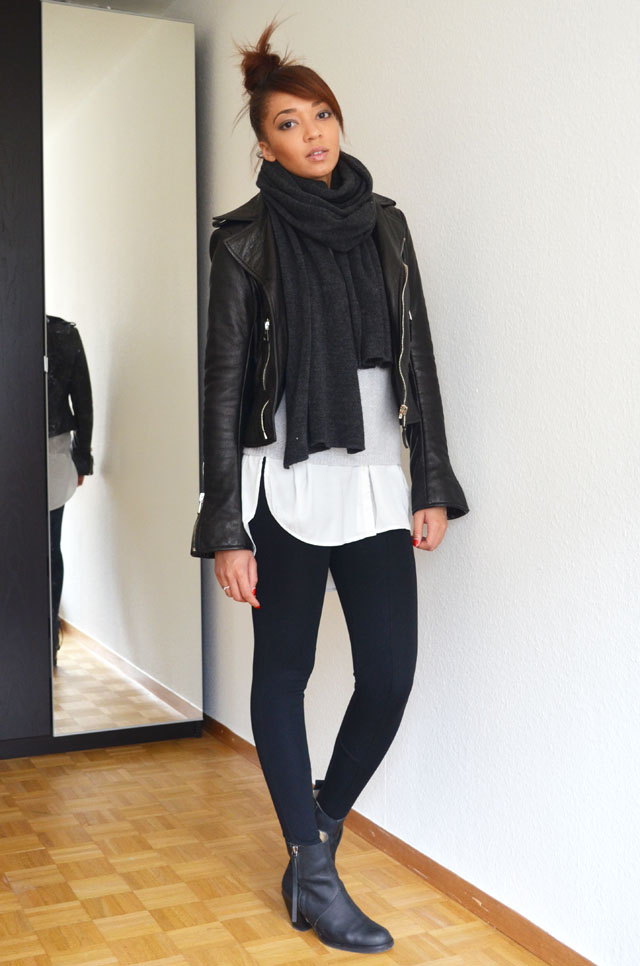 mercredie-blog-mode-geneve-suisse-fashion-blogger-zara-pistol-acne-look-outfit-american-apparel-legging-harlem-balenciaga-perfecto-biker-jacket-cuir-leather-black-silver-zips-zippers-argent2