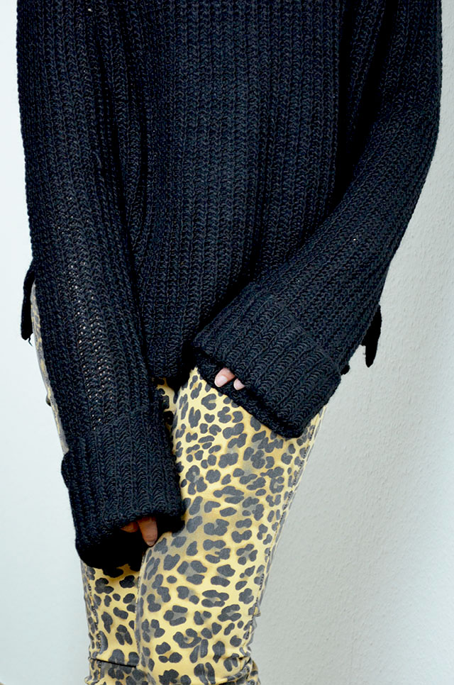 mercredie-blog-mode-geneve-blogueuse-pantalon-jeans-leopard-bague-bluesky-adi-creations-pull-zara-hiver-2013-winter-knitwear-longues-manches-oversized-sleeves-black