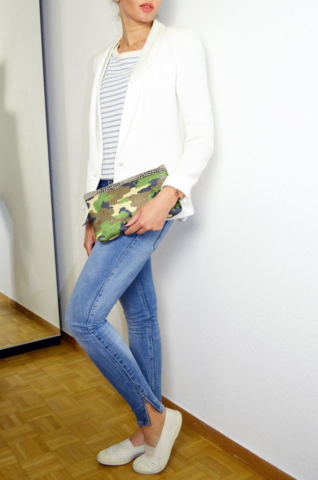 mercredie-blog-mode-geneve-mariniere-lafayette-collection-jean-slim-skinny-zara-zip-bun-curly-hair-nappy-afro-natural-bensimon-blanches-look-blazer-crepe-ba&sh-lipova-catherine-membre-Armyshine-camouflage