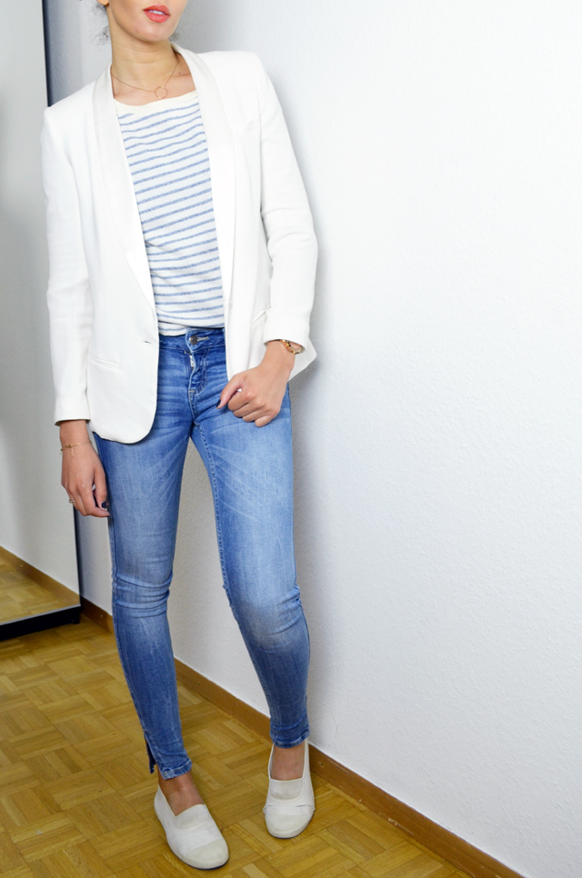 mercredie-blog-mode-geneve-mariniere-lafayette-collection-jean-slim-skinny-zara-zip-bun-curly-hair-nappy-afro-natural-bensimon-blanches-look-blazer-crepe-ba&sh-lipova2
