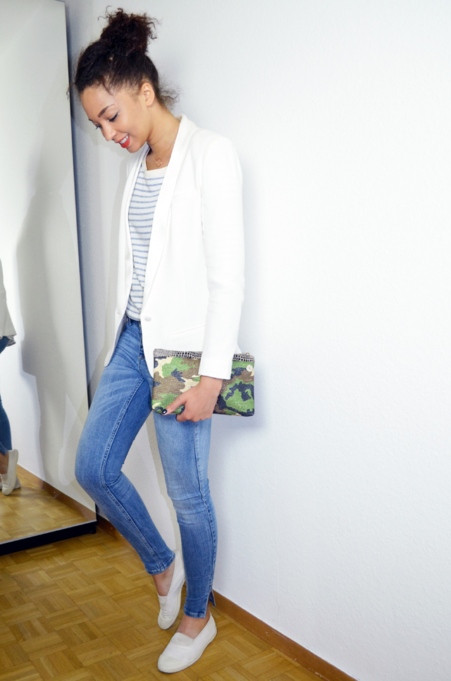 mercredie-blog-mode-geneve-mariniere-lafayette-collection-jean-slim-skinny-zara-zip-bun-curly-hair-nappy-afro-natural-bensimon-blanches-look-blazer-lipova-crepe-ba&sh-catherine-membre-Armyshine-camouflage3