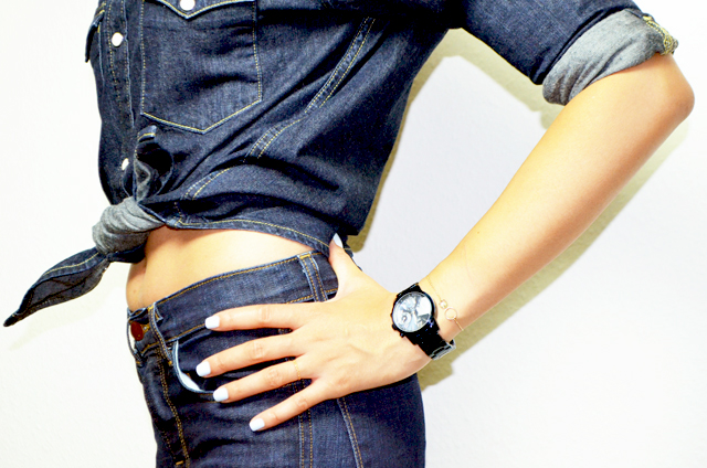 mercredie-blog-mode-guess-instant-bleu-montre-W0448L5-denim-total-lee-chemise-shirt-j-brand-jean-dumbell