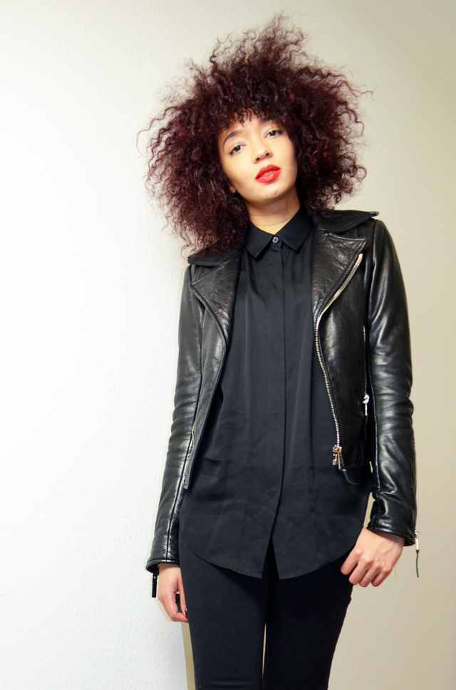 mercredie-blog-mode-geneve-2015-perfecto-balenciaga-biker-jacket-leather-afro-hair-natural-nappy