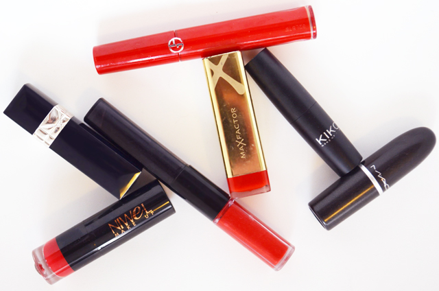 mercredie-blog-test-swatches-lipstick-rouge-a-levres-mac-ruby-woo-niwel-veloute-infaillible-l-oreal-red-max-factor-ruby-tuesday-kiko-ultra-glossy-rouge-dior-999-giorgio-armani-chinese-lacquer