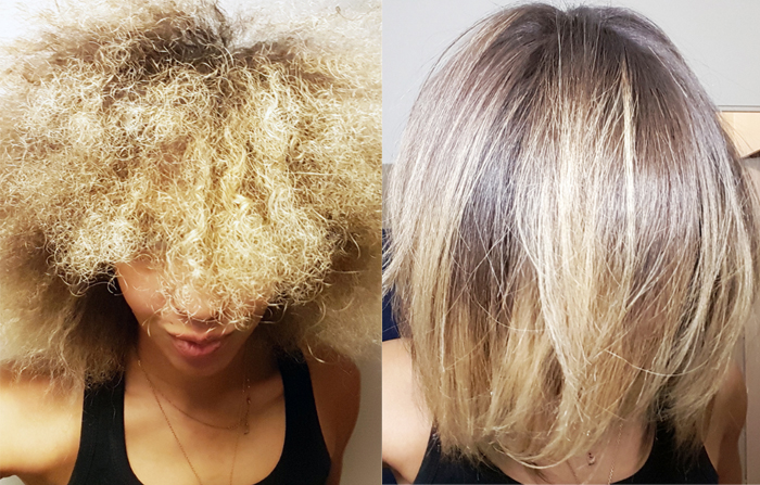 mercredie-blog-beaute-cheveux-naturels-afro-hair-steampod-test-loreal-professionnel-rowenta-review-before-after-nappy-blonde-curly-frises