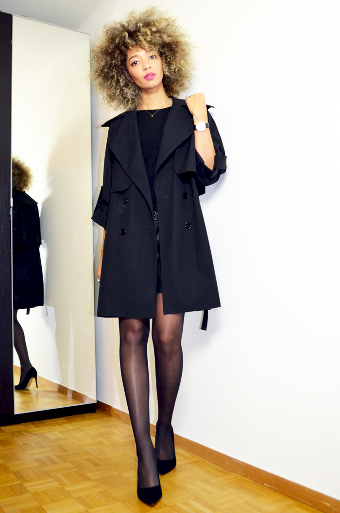 mercredie-blog-geneve-trench-coat-carven-paris-black-ysl-lipstick-rose-perfecto-curly-natural-afro-blonde-bleached-hair-christophe-robin-baby-blond-masque-correcteur-escarpins-asos