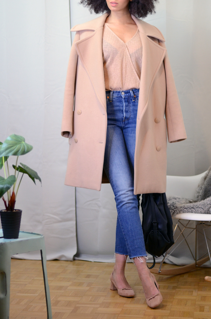 mercredie-blog-mode-zara-promod-ballerines-talons-nude-levis-wedgie-fit-jeans-cache-coeur-coat-oversized-beige-nude-manteau-stella-mccartney-izzy-backpack-bag-opening-ceremony-leather2