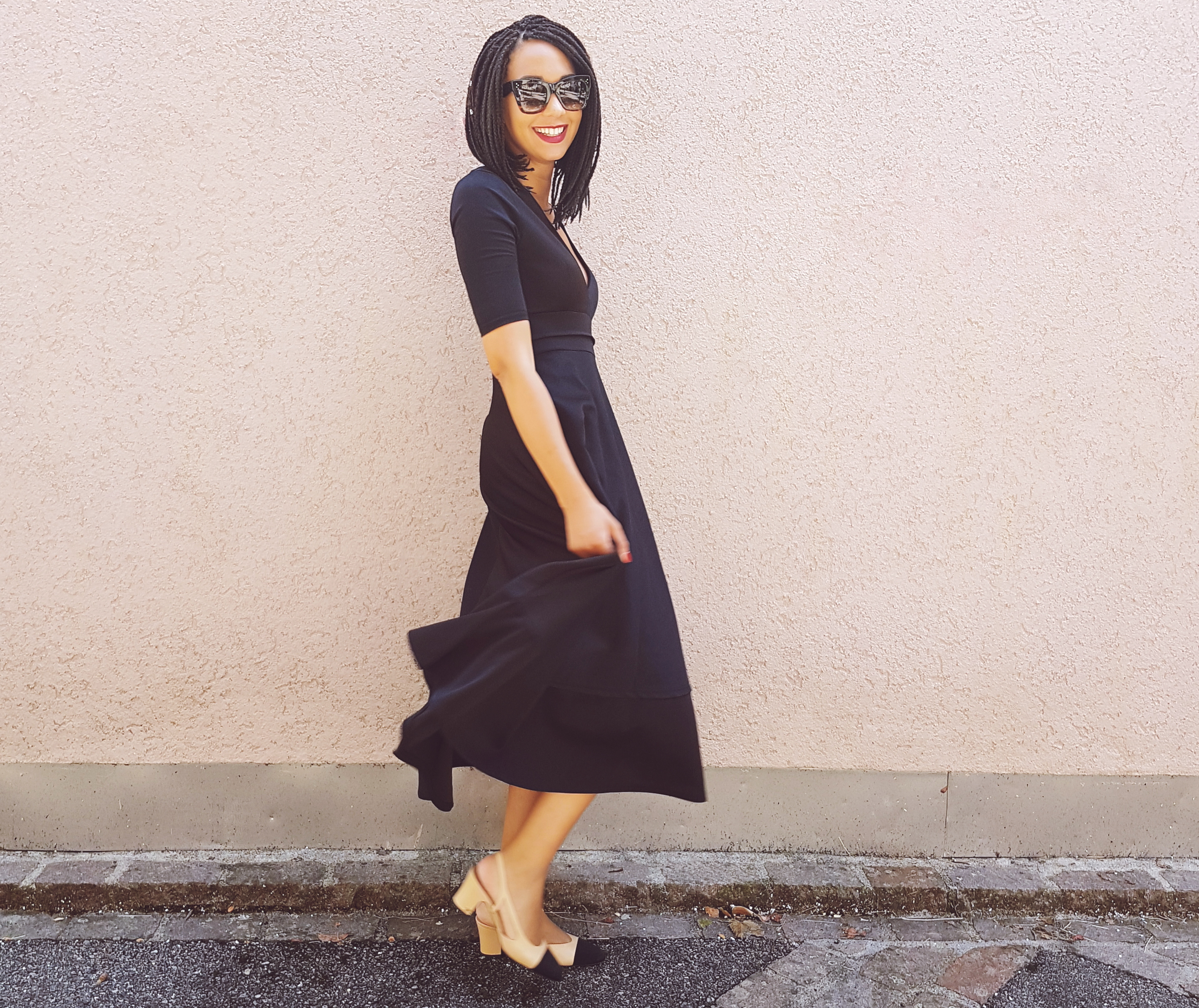 mercredie-blog-beaute-box-braids-carre-bob-inverted-plongeant-tresses-kanekalon-little-black-dress-lunettes-celine