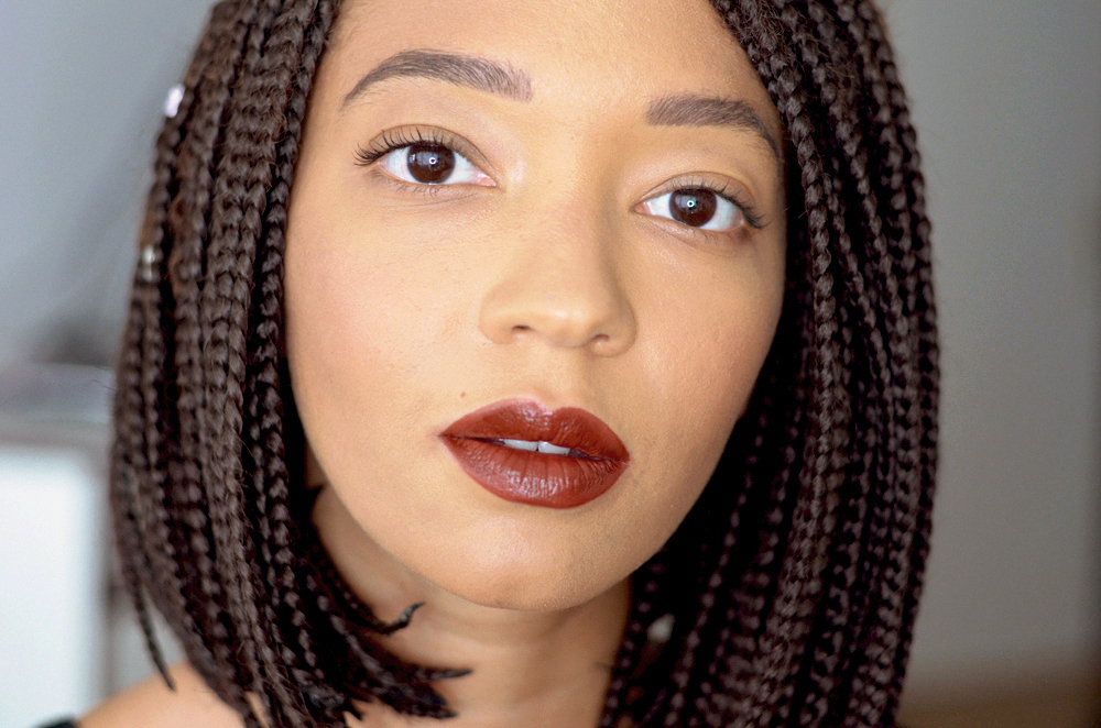 mercredie-blog-mode-geneve-beauty-blogger-suisse-switzerland-loreal-paris-lip-paint-lipstick-matte-lacquer-nude-red-lips-swatches-review-test-213-stripped-brown