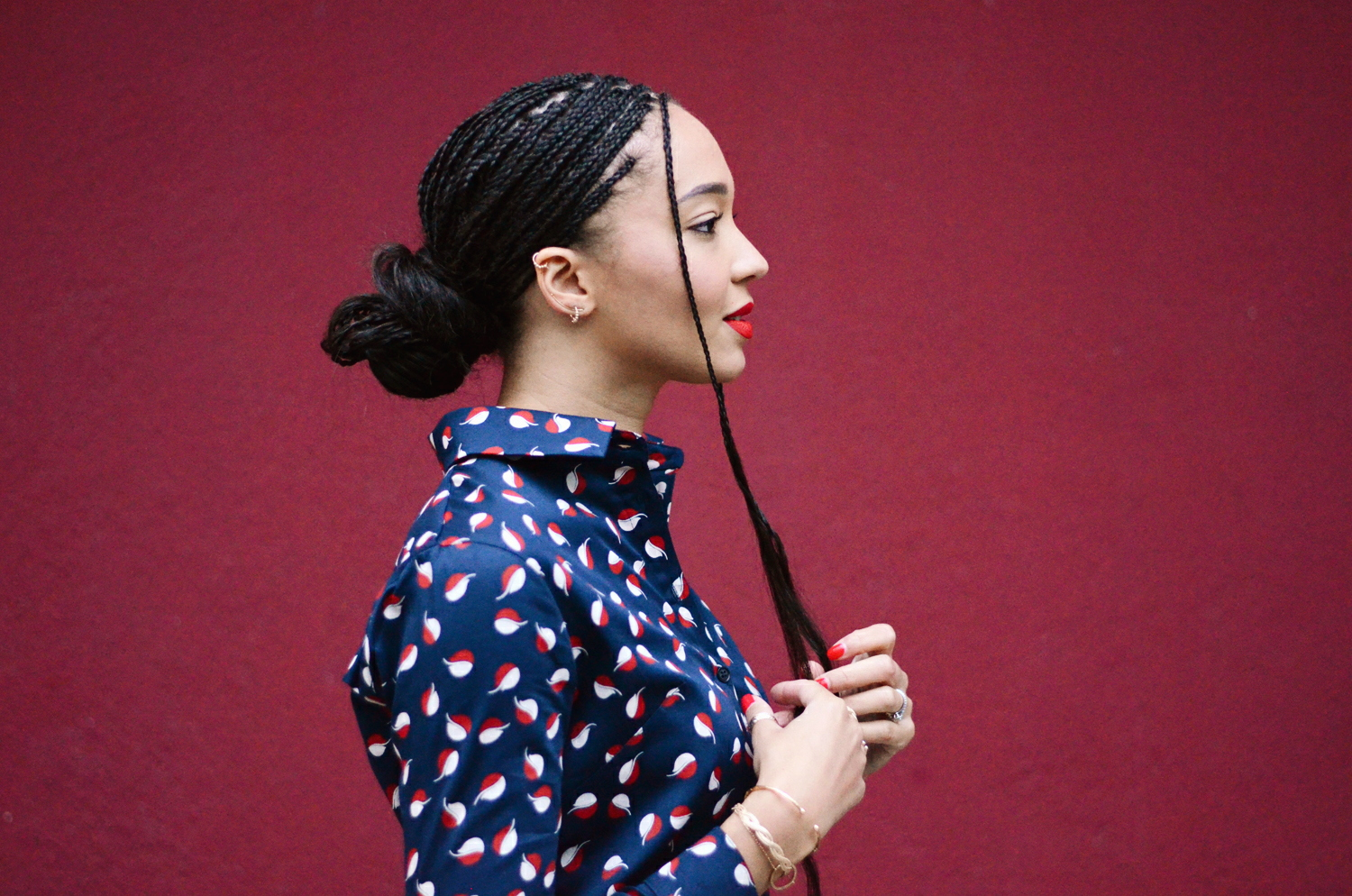 mercredie-blog-mode-fashion-blogger-suisse-geneve-switzerland-box-braids-metisse-ensemble-asos-people-tree-v&a-coton-bio-imprime-chemise1