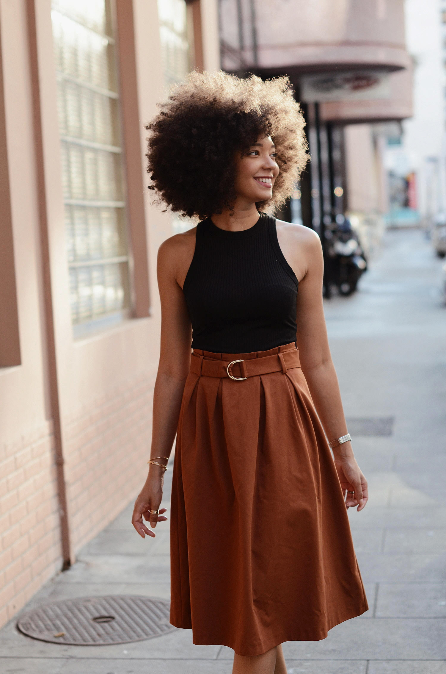 mercredie-blog-mode-geneve-blogger-swiss-suisse-switzerland-geneva-jupe-esprit-paper-bag-skirt-afro-hair-natural